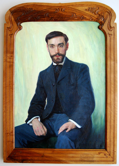 """Retrato de Quintin de Torre"". Oil on canvas 92 x 65,5 cm. Signed, dedicated and dated 'Paris 1902'"