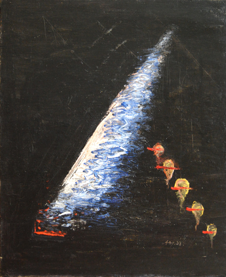 """Árbol de Navidad"". Oil on canvas 73,5 x 60 cm. Signed and dated 1933 Procedence: Artist's heritage Exhibitions: Culture Ministry, Alfonso de Olivares, 1976 Ynguanzo Gallery Guillermo de Osma Gallery, 1998"