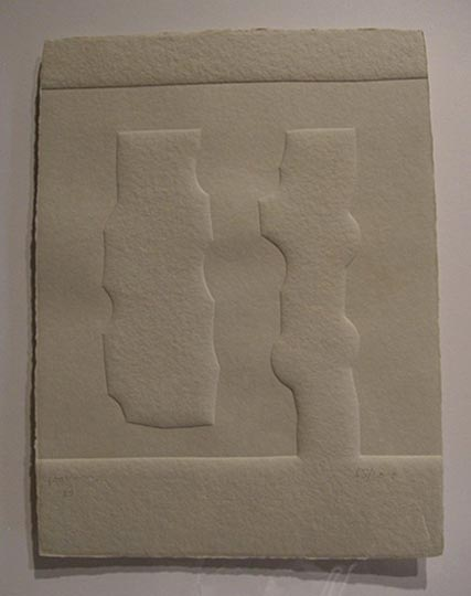"NO DISPONIBLE. ""Parménides"". Relieve / papel 40 x 30,5 cm. Firmado y numerado Edición 65/100"