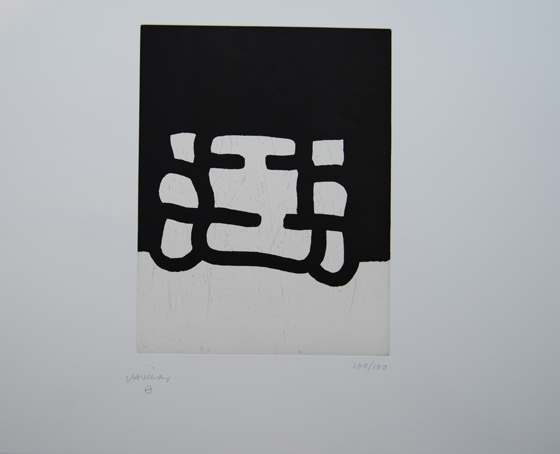 """Antzo I"". Etching on paper 53,4 x 75,5 cm. Signed Edition 96/100"
