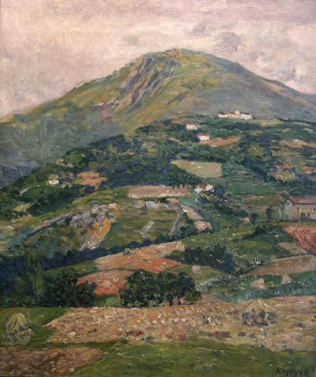 """Paisaje de Rentería"". Oil on canvas 55 x 46 cm. Signed It has a certificate done by Juan San Nicolas, an expert in Regoyos."