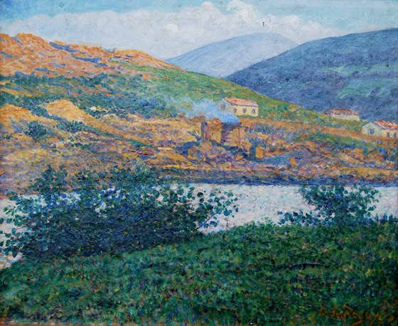 """Minas de hierro en Bilbao"". Oil on canvas 50 x 60 cm. Signed Circa 1907"