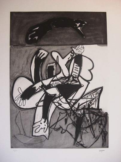 """Abstracto"". Etching on paper 92 x 71 cm. Signed Edition 56/75"