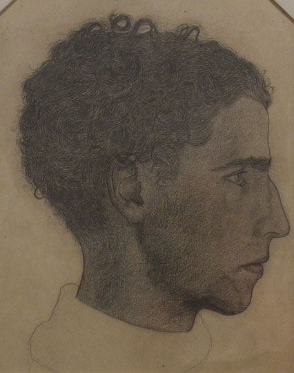 """José Sarriegui: Retrato de Nicolás de Lekuona"". Pencil on paper 23,2 x 29 cm.  Without signature"