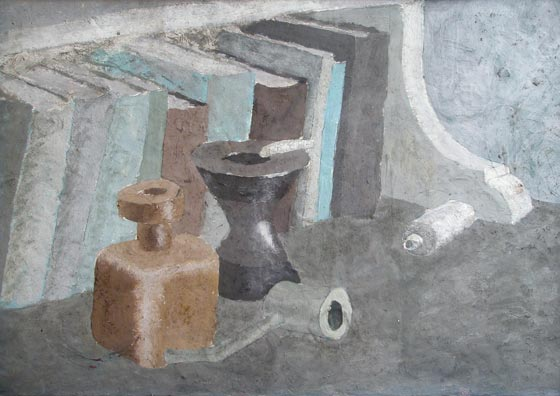 """Sin título"". Oil on cardboard 33,5 x 47 cm. Without signature nor date. Circa 1935/36 Nº catalogue 37"