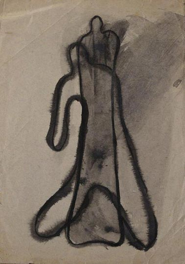 "NOT AVAILABLE. ""Boceto para óleo"". Ink on paper 23 x 16 cm. Without signature. Circa 1934"