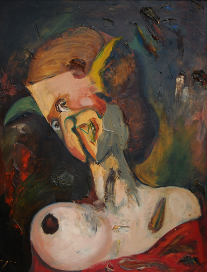 """Sin título"". Oil on cardboard 66 x 51 cm. Signed Signed on reverse 17/03/40"