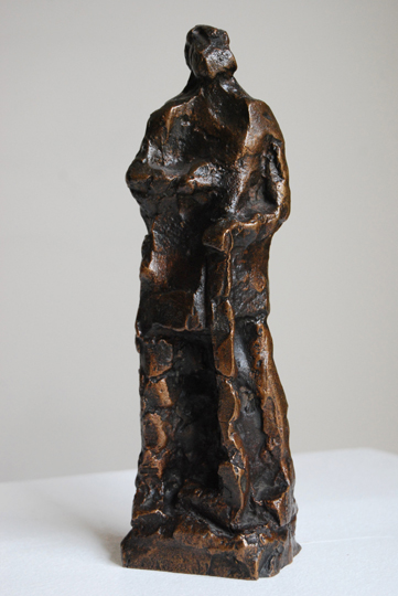 "NOT AVAILABLE. ""San Isidro"". Sculpture belonging to a multiple of 34 copies edition. Made in 1973 from a 1953 model. Cast in bronze 26 x 7.2 x 6.6 cm. Signed: OTEITZA 53 Numbered: 17/34"